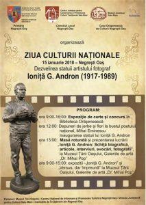 Afis Dezvelirea statuii artistului fotograf Ionita G. Andron (3)